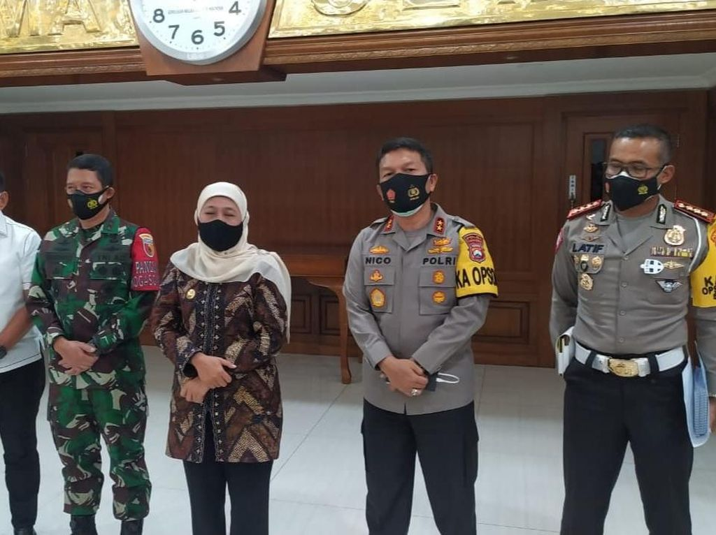Khofifah Ingatkan 7 Titik Penyekatan Mudik 2021 di Jawa Timur