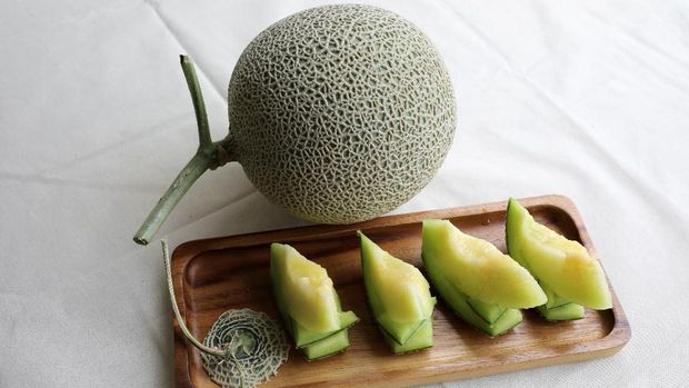 Japanese muskmelons are pictured at Mono Farm in Putrajaya, Malaysia April 8, 2021. Picture taken April 8, 2021. REUTERS/Lim Huey Teng