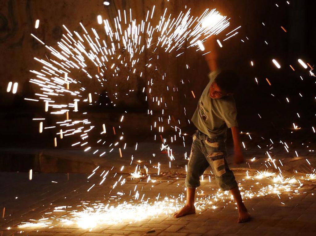 Foto: Semarak Ramadhan di Kota Gaza