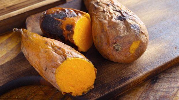 Close up of Baked Sweet Potato