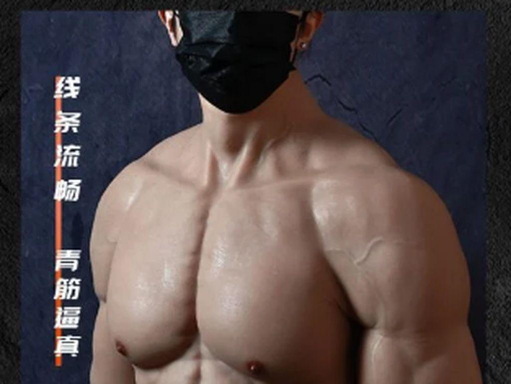 Populer di China, Baju Silikon untuk Bikin Tubuh Pria Berotot Bak Atlet