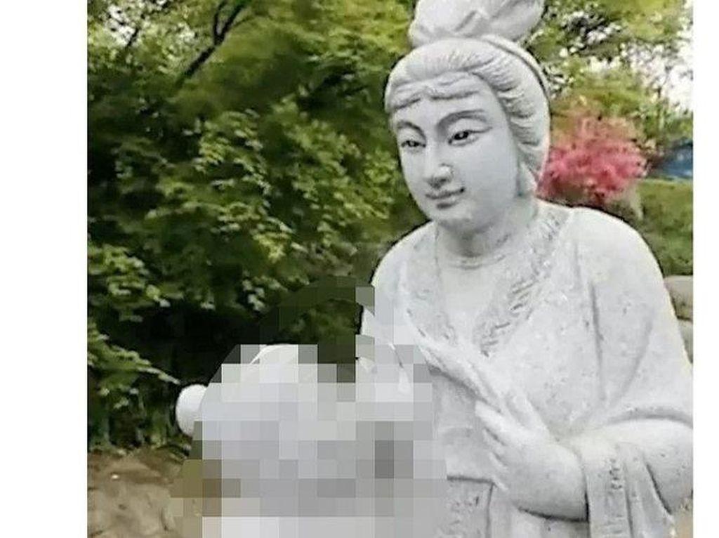 Banjir Kritik, China Bongkar Patung Wanita Menyusui Ibu Mertua