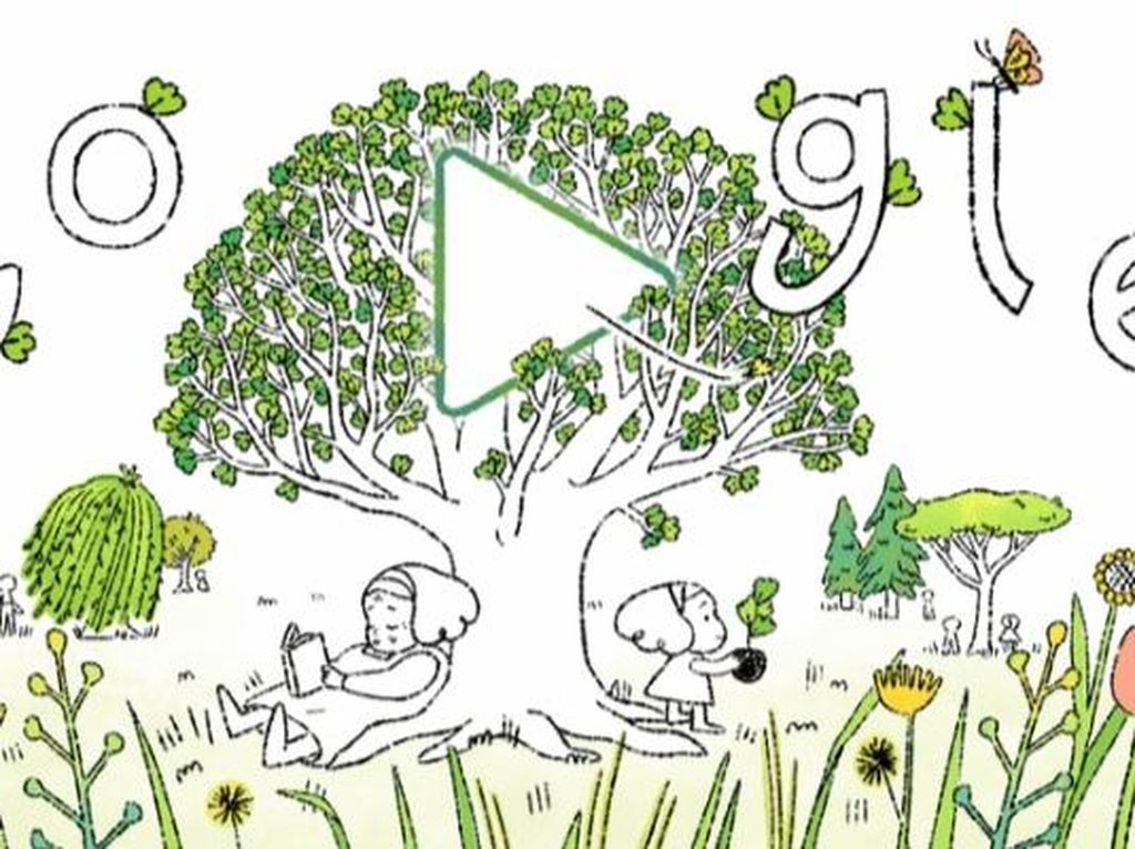 Hari Bumi Sedunia, Google Doodle Berikan Pesan untuk Menanam Pohon
