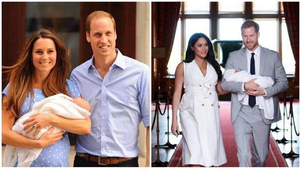 Kate Middleton dan Meghan Markel usai melahirkan anak pertamanya.