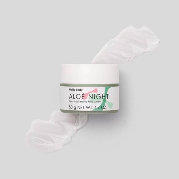 aloe night hydrating sleeping face cream