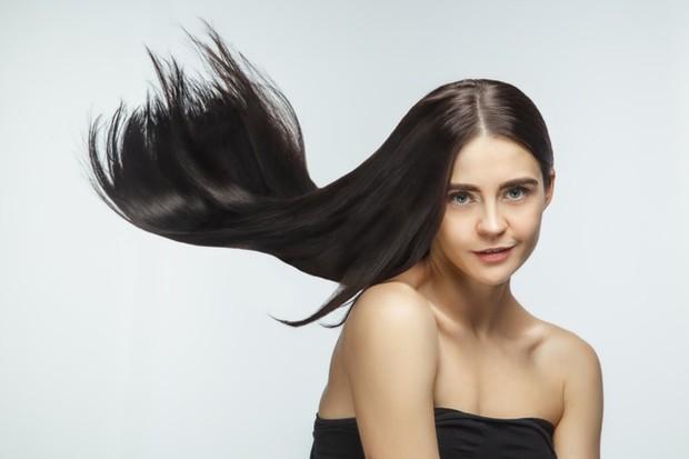 Ilustrasi rambut sehat.