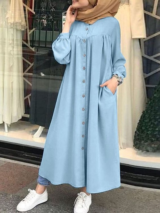 loose dress with side pockets (sumber : pinterest.com/banggood)