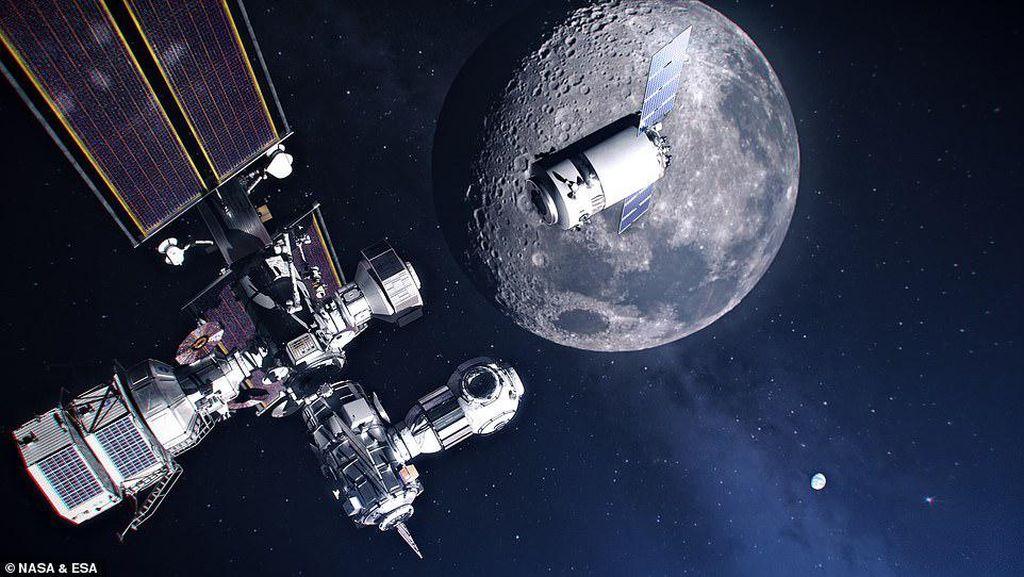 Keren! Penampakan Pangkalan Manusia di Orbit Bulan