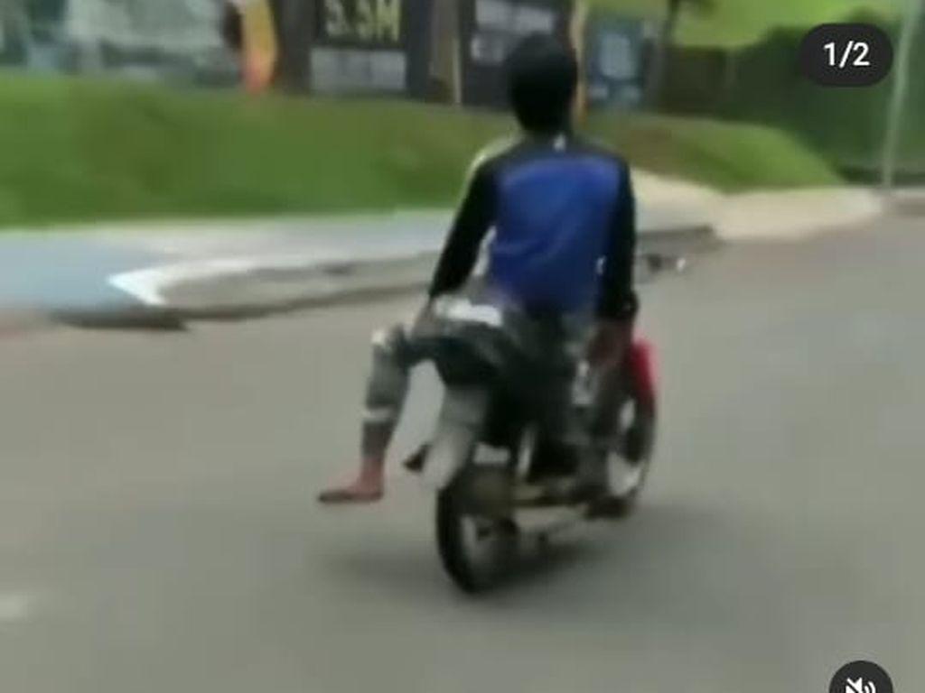 Polisi Sebut Pemotor Viral di Bintaro yang Lepas Tangan Saat Berkendara Iseng