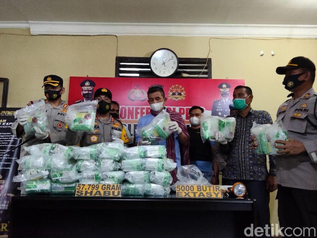 Penyelundupan 57 Kg Sabu dan 5.000 Pil Ekstasi ke Asahan Digagalkan