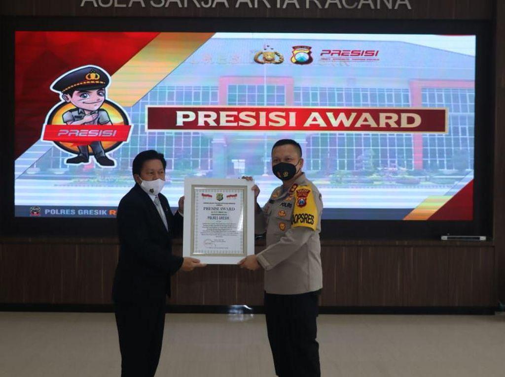 Inovasi dan Pelayanan Polisi di Gresik Diganjar Presisi Award