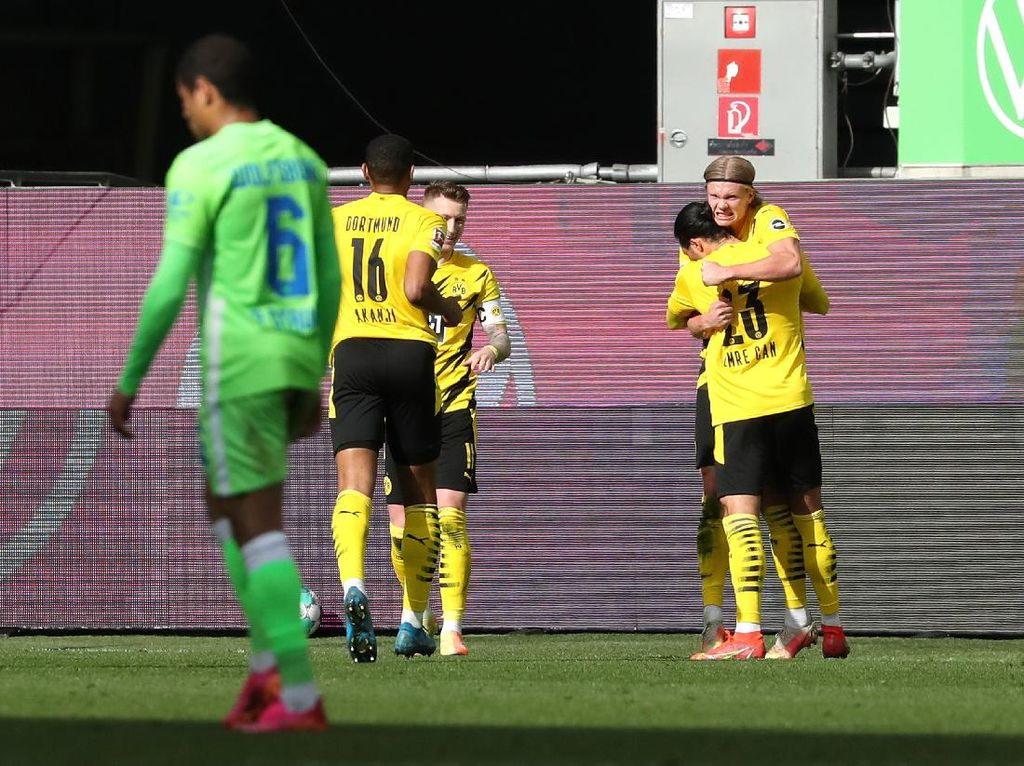 Wolfsburg Vs Dortmund: Dua Gol Haaland Menangkan Die Borussen
