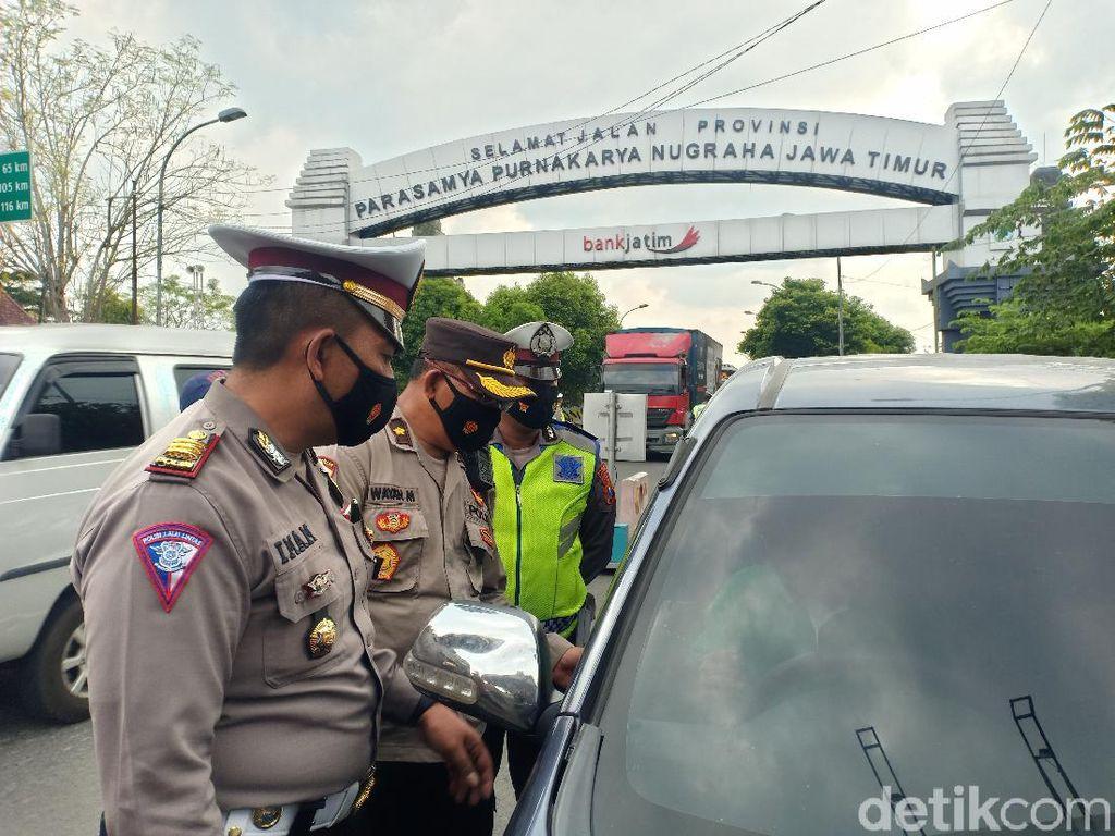 Operasi Yustisi di Perbatasan Jatim-Jateng, Tak Ada Pemudik Masuk
