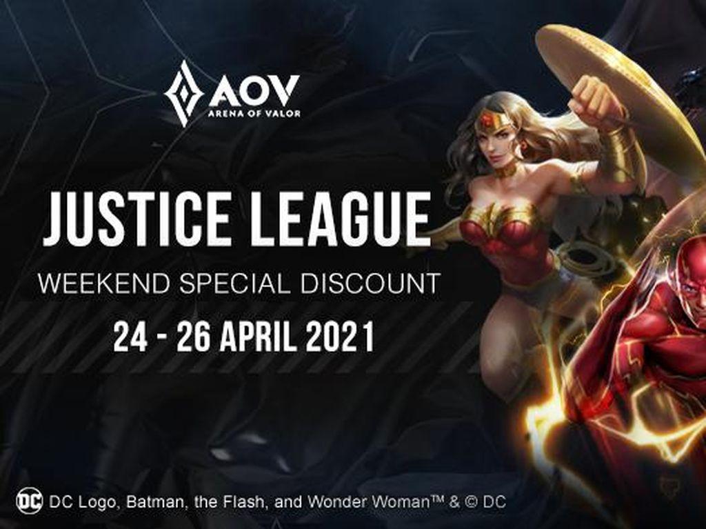 Para Punggawa Justice League Dapat Diskon Besar di Arena Of Valor!