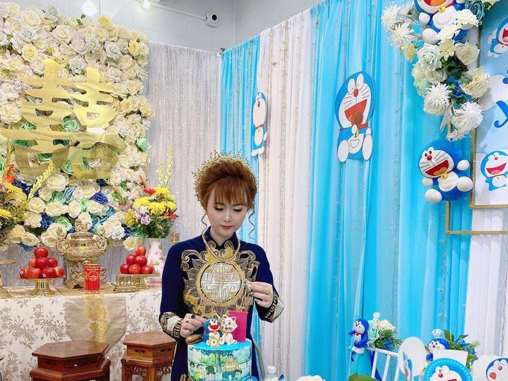Viral Pesta Pertunangan Unik Bertema Doraemon, Dikira Acara Anak-anak