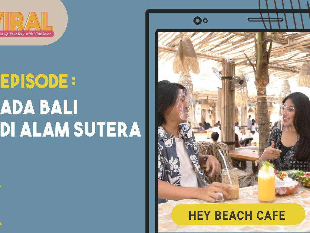 Viral! Ada Restoran Pasir Putih Ala Bali di Tengah Kota