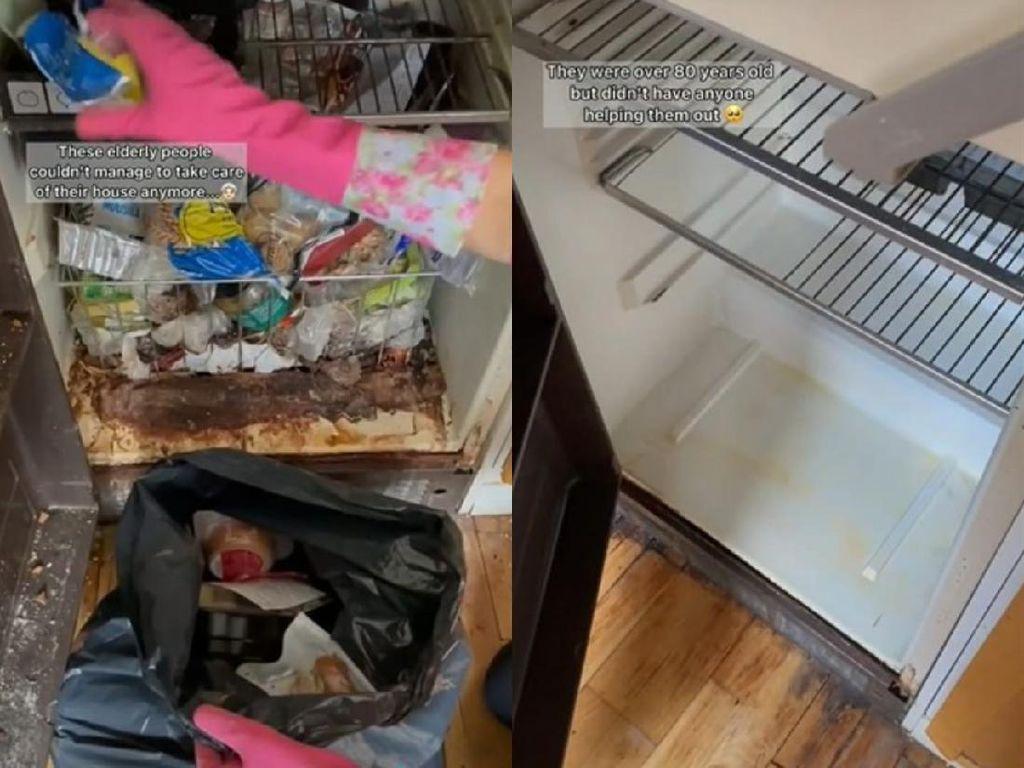 Aksi Mulia Wanita yang Bersihkan Dapur Milik Kakek Nenek 80 Tahun