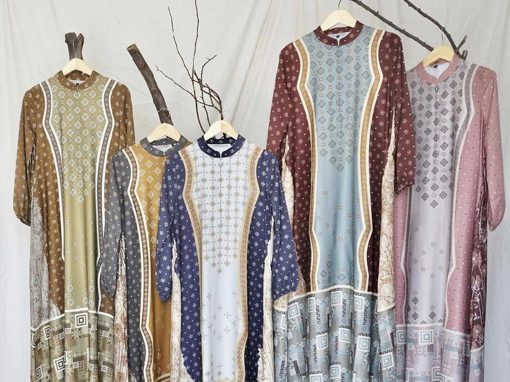 Baju Lebaran Motif Bahan Silk Jadi Primadona di Thamrin City dan Tanah Abang