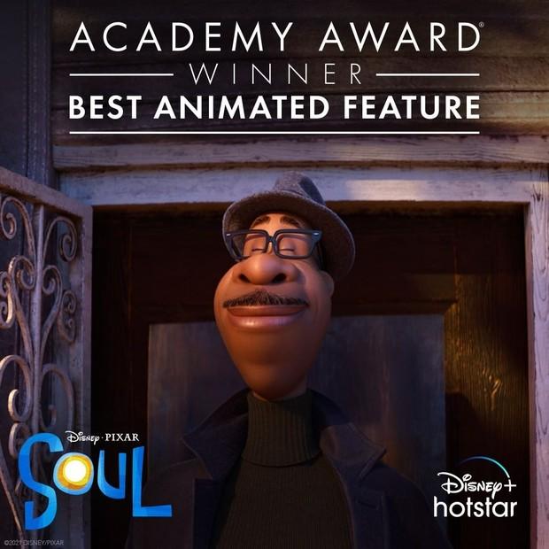 Film Soul meraih Best Animated Feature dalam Piala Oscars.