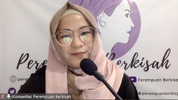 Founder Perempuan Berkisah, Alimah Fauzan S.Ikom