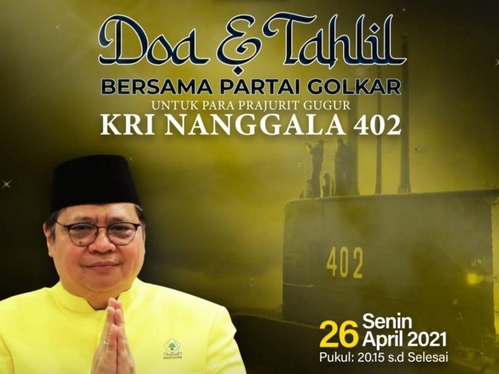 Golkar Gelar Doa & Tahlil Bersama untuk Kru KRI Nanggala 402