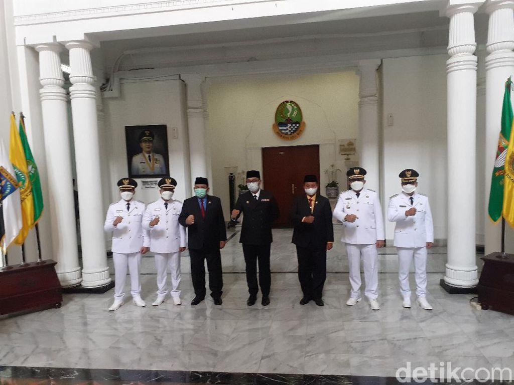 Lantik Bupati Bandung dan Tasikmalaya, Ridwan Kamil Pesan 3 Hal Ini