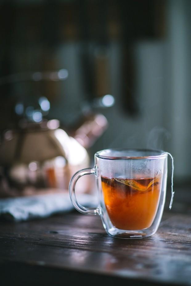 Hot tea.