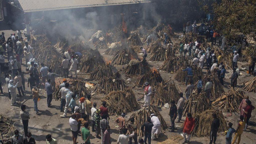 Potret Ngerinya Kasus COVID-19 India! Tembus 18 Juta, Krematorium Kerja 24 Jam