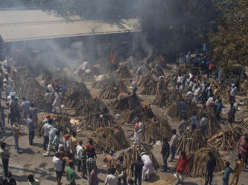 Makin Ganas! India Hadapi Kremasi Massal Imbas Tsunami COVID-19