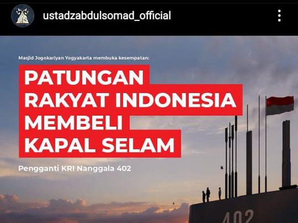 UAS Ajak Patungan Beli Kapal Selam, DMI Tunggu Realisasinya