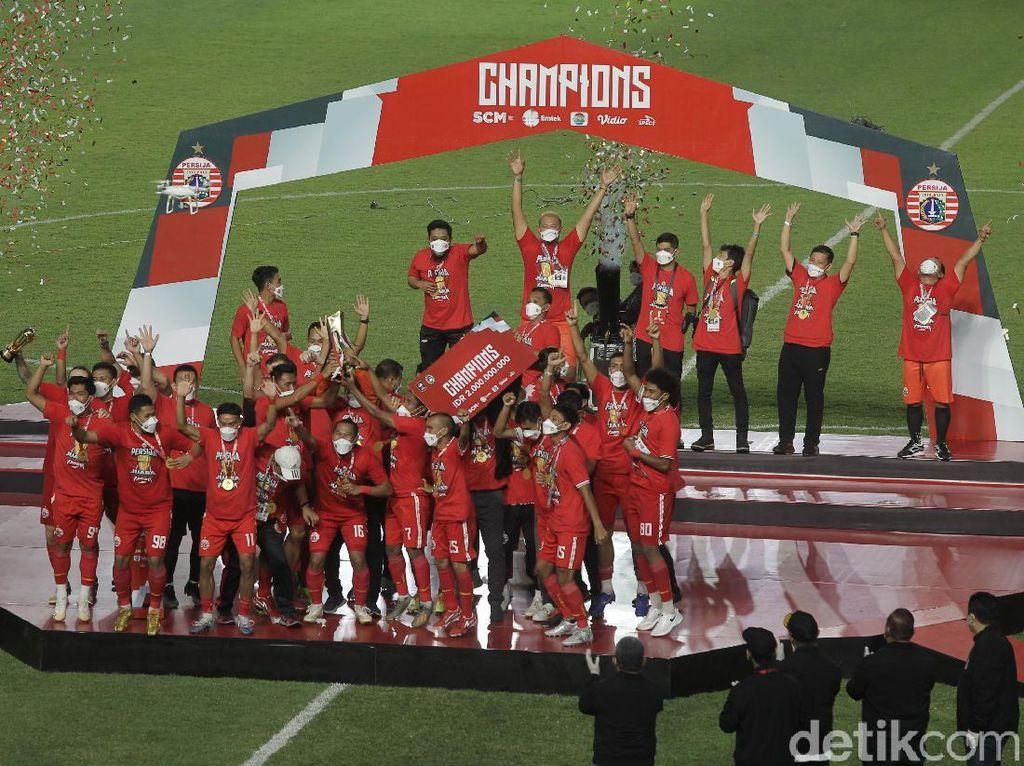 Persija Rayakan Gelar Juara Piala Menpora 2021