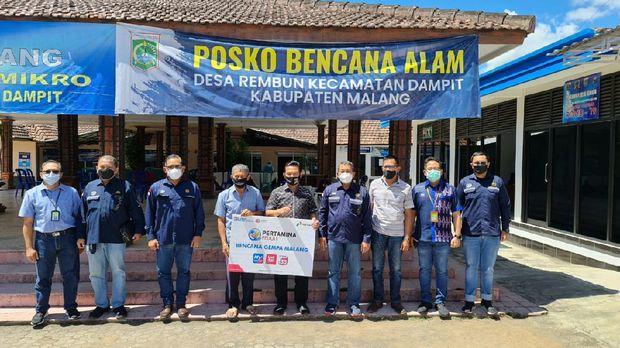 Pertamina Bersama BPH Migas Tinjau Dampak Bencana di Kabupaten Malang