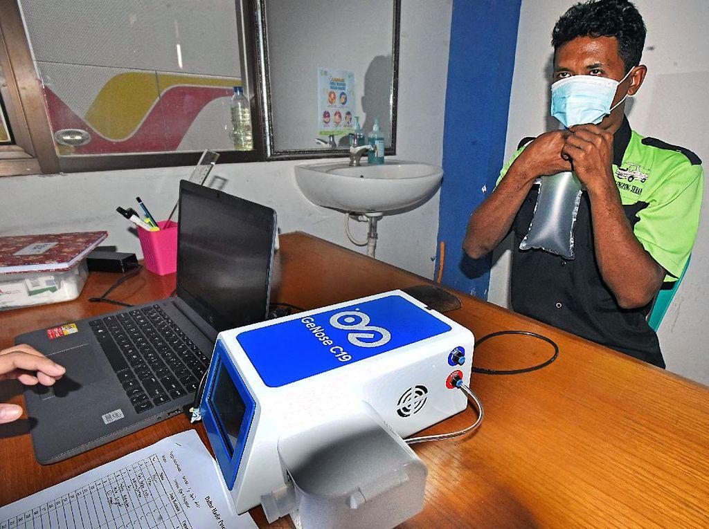 Ada Layanan Tes GeNose Gratis Nih di Terminal Serang Banten