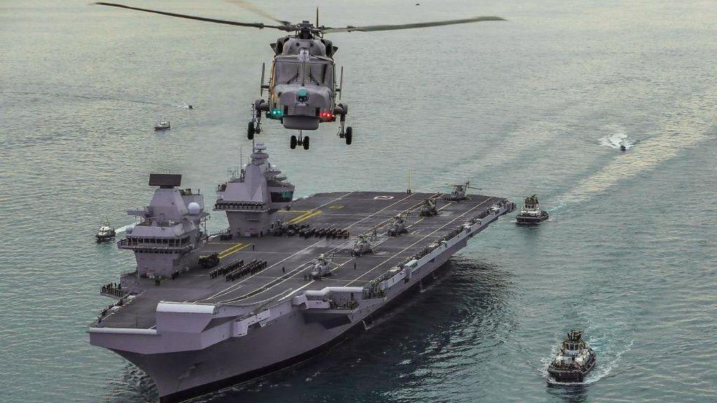 Kapal Induk Terhebat Inggris Siap Pamer Kekuatan di Asia