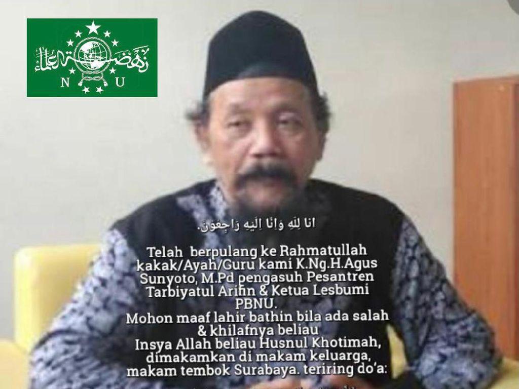 KH Agus Sunyoto Meninggal, PWNU Kehilangan Sosok Sejarawan Terbaik