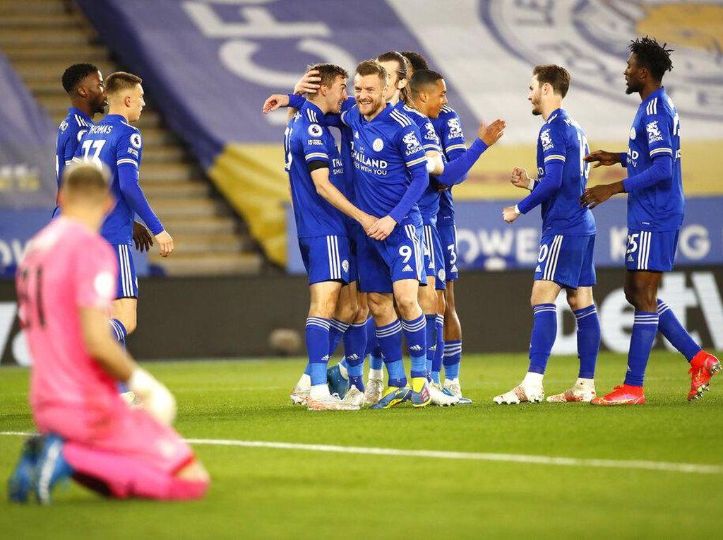 Leicester Vs Crystal Palace: The Foxes Menang 2-1, Mantap di Tiga Besar
