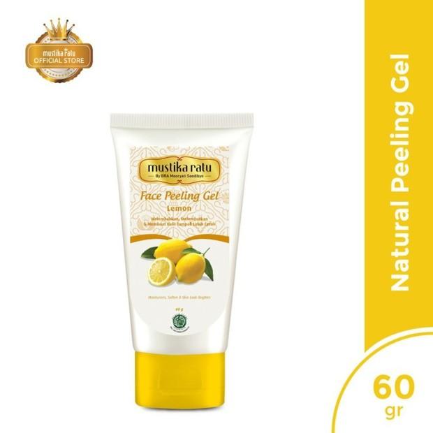 Mustika Ratu Duo Face Care Lemon Face Peeling Gel & Peel Off Mask (sumber : tokopedia.com/amanybell)