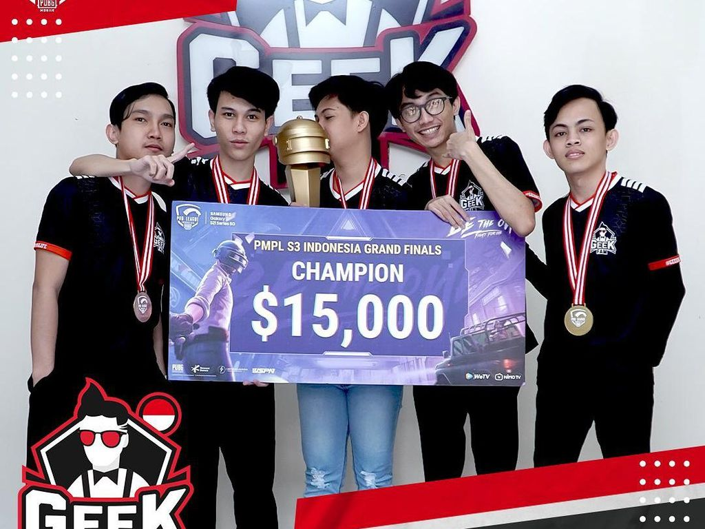 Geek Fam Jadi Juara PUBG Mobile Pro League Indonesia Season 3