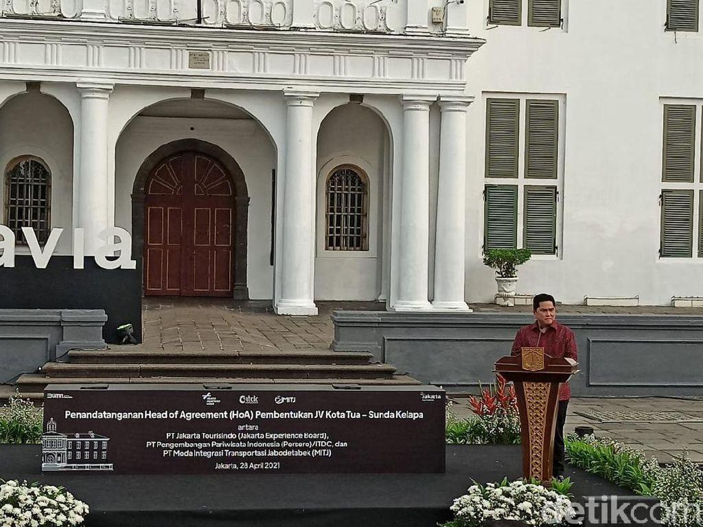 Erick Thohir-Anies Duet Percantik Kota Tua-Sunda Kelapa