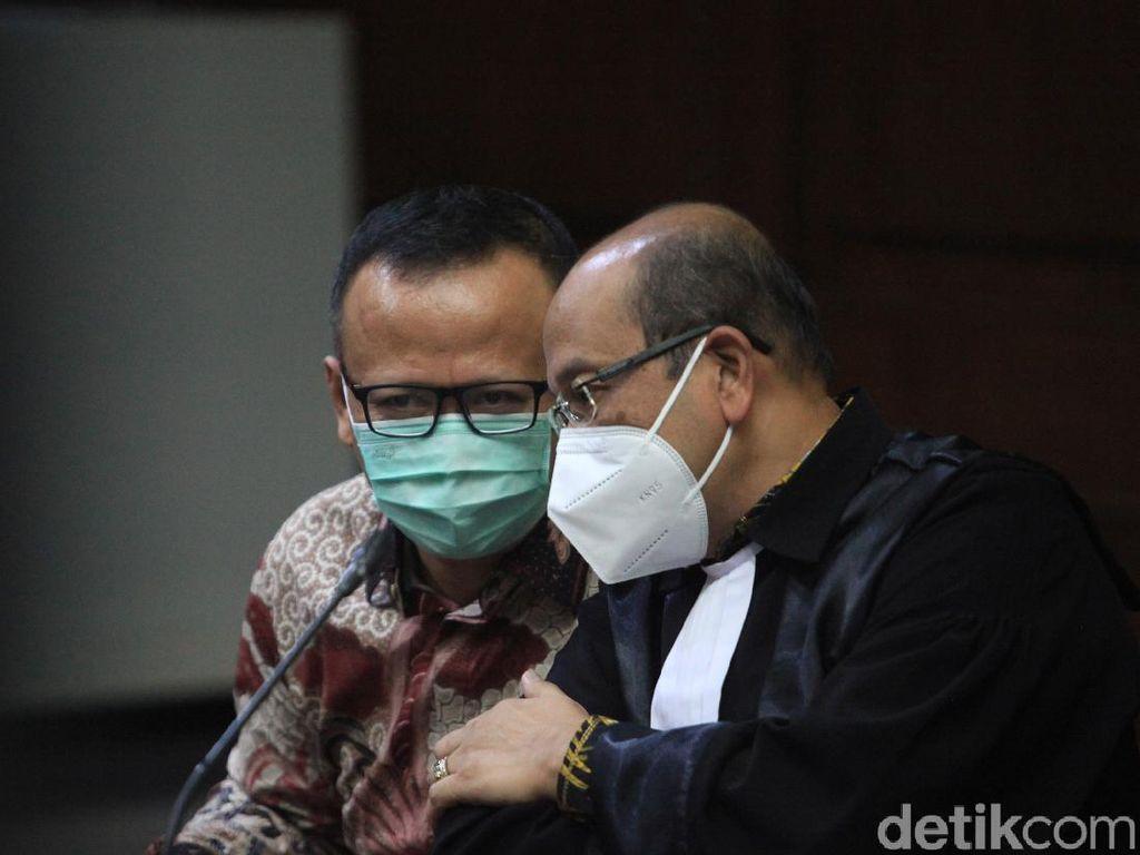 Perdana, Edhy Prabowo Hadir di Sidang Kasus Ekspor Benur