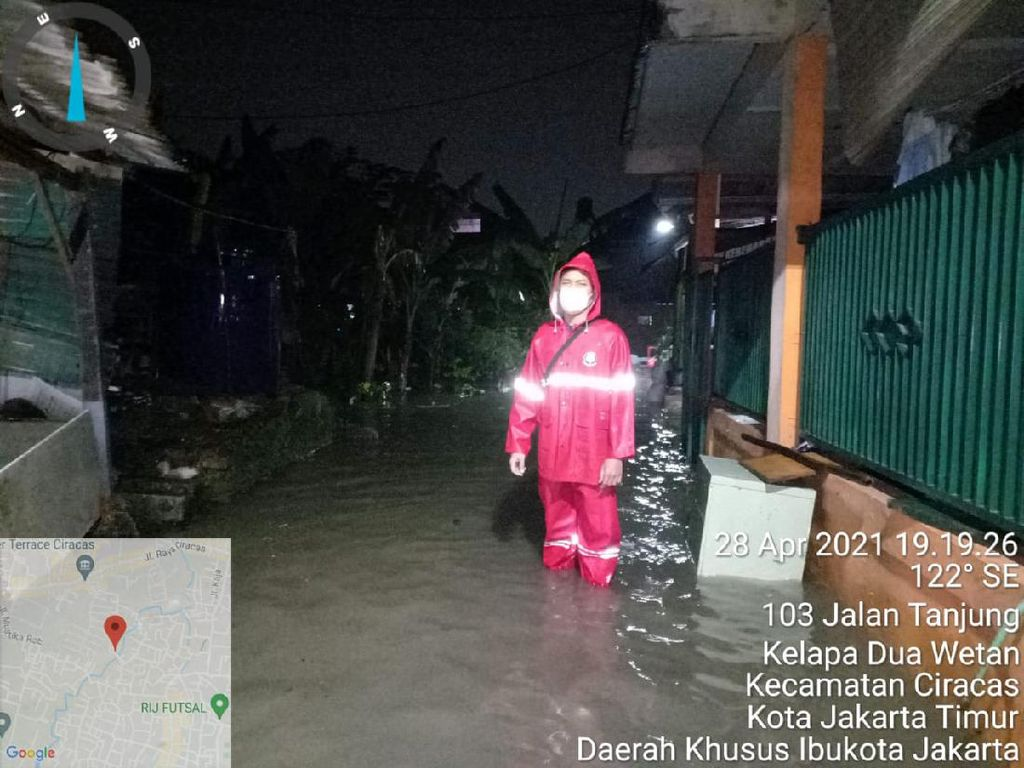 Jakarta Diguyur Hujan, Genangan Muncul di Cipinang Melayu-Ciracas
