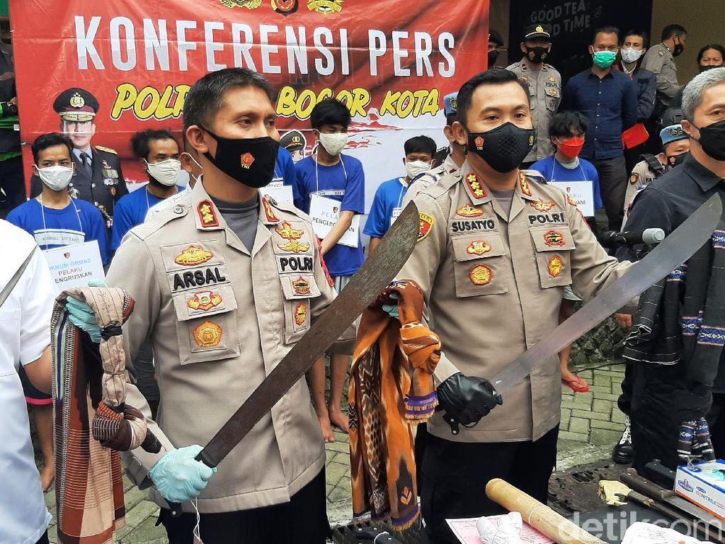 Perang Sarung hingga Lukai Lawannya, Sejumlah Remaja Bogor Diamankan Polisi