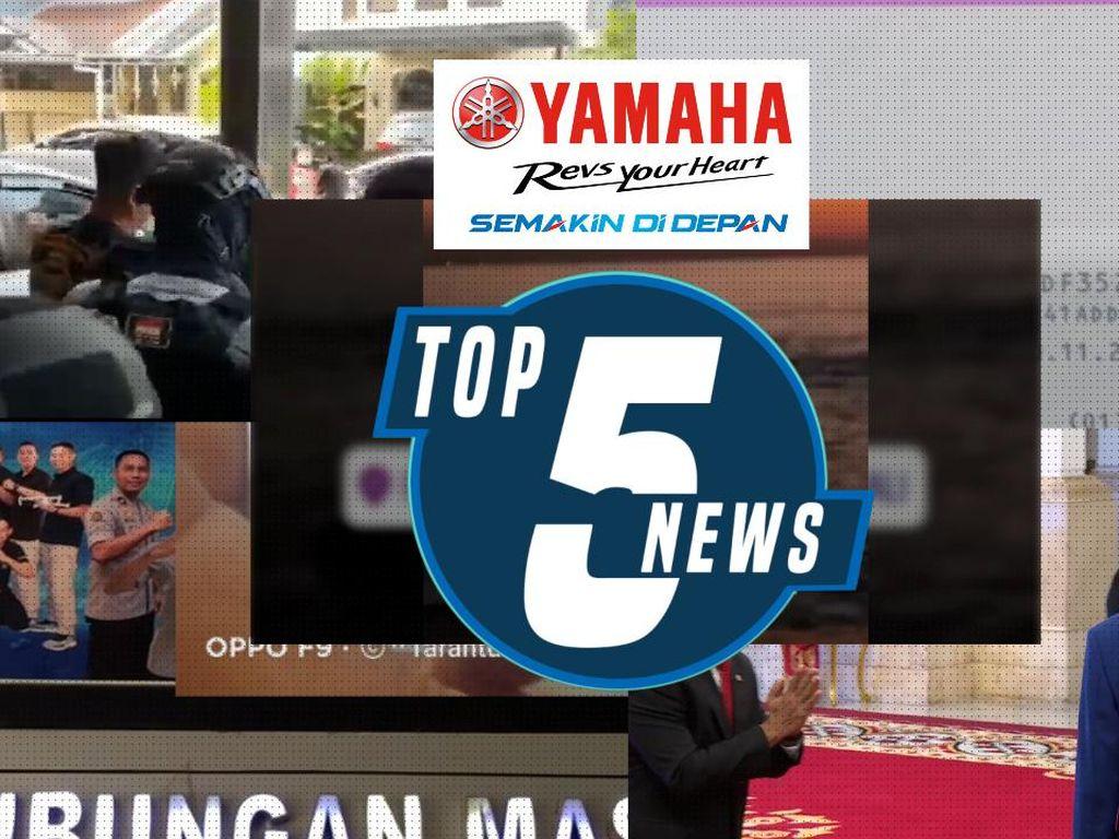 Jokowi Lantik Dua Menteri Baru hingga Doa Habib Rizieq untuk Munarman