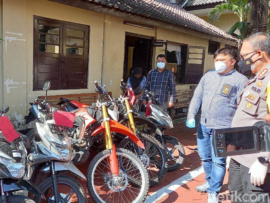 Sepekan, Komplotan Maling Asal Lampung Gasak 19 Motor di Yogya
