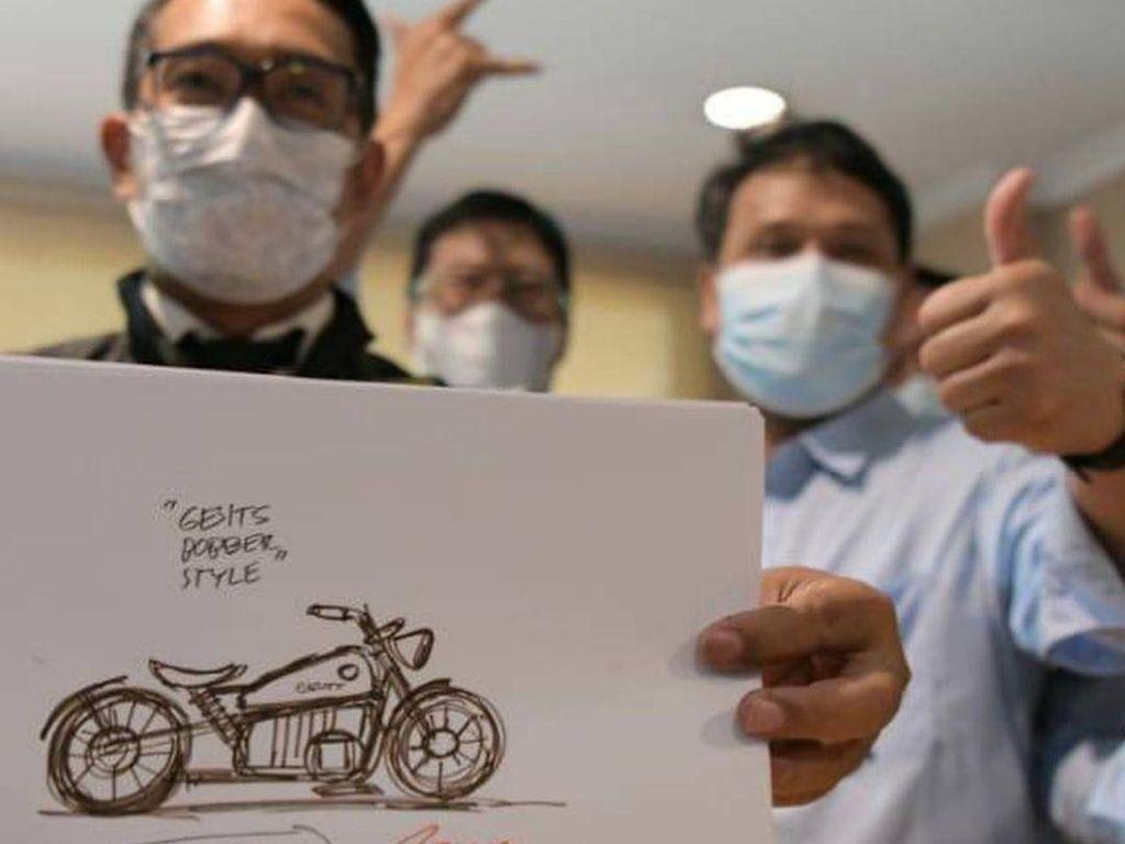 Ridwan Kamil Desain Motor Listrik Gesits tapi Klasik, Namanya RKG-72