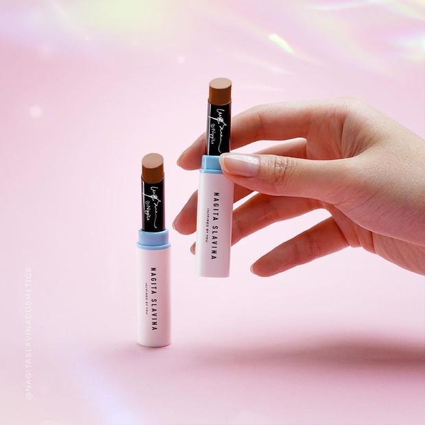 Nagita Slavina Cosmetics hadirkan lipstik dengan satin finish/instagram.com/nagitaslavinacosmetics