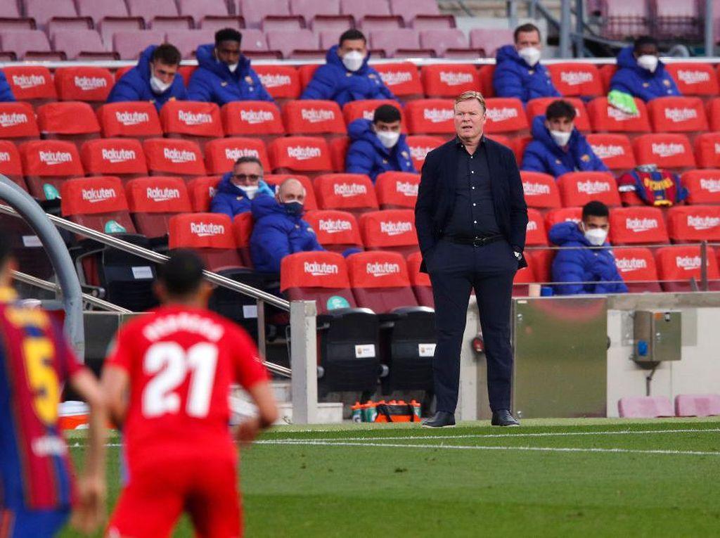 Soal Kartu Merah Ronald Koeman dalam Kekalahan Barcelona