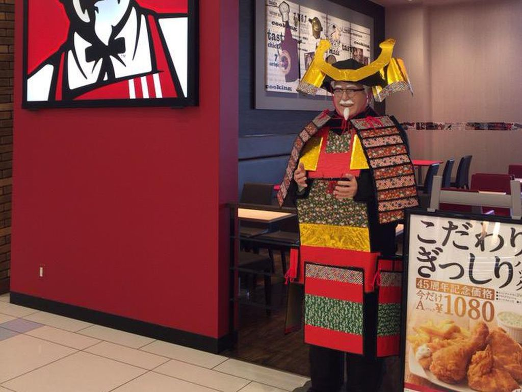 Wow! Tampilan Colonel Sanders KFC Berubah Jadi Samurai karena Alasan Ini