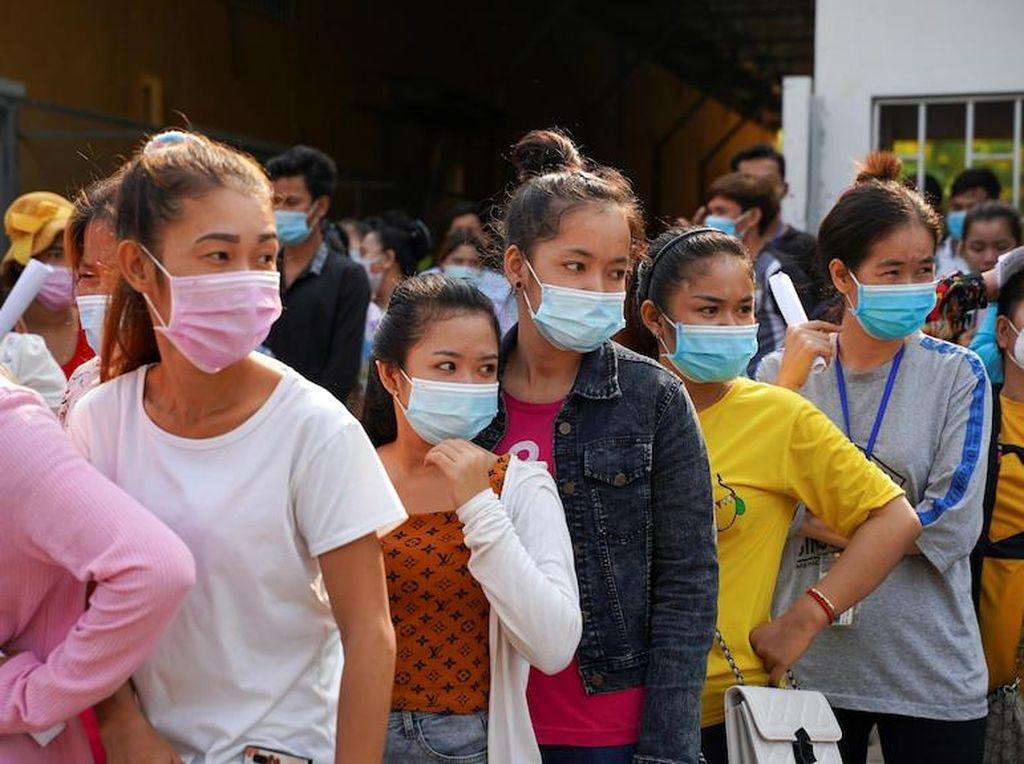Warga dalam Zona Merah Lockdown di Kamboja Terancam Kelaparan