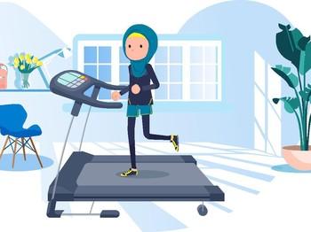 Melongok Tempat Fitness Syariah